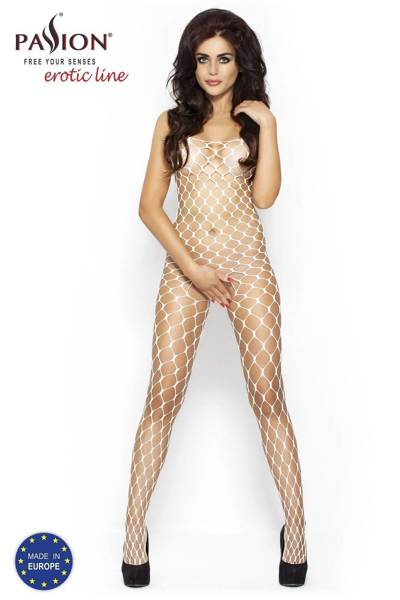 BS001 bodystocking białe Passion Lingerie