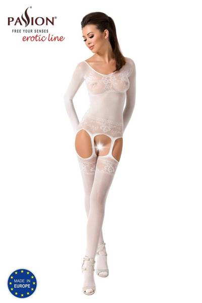 BS055 bodystocking białe Passion Lingerie